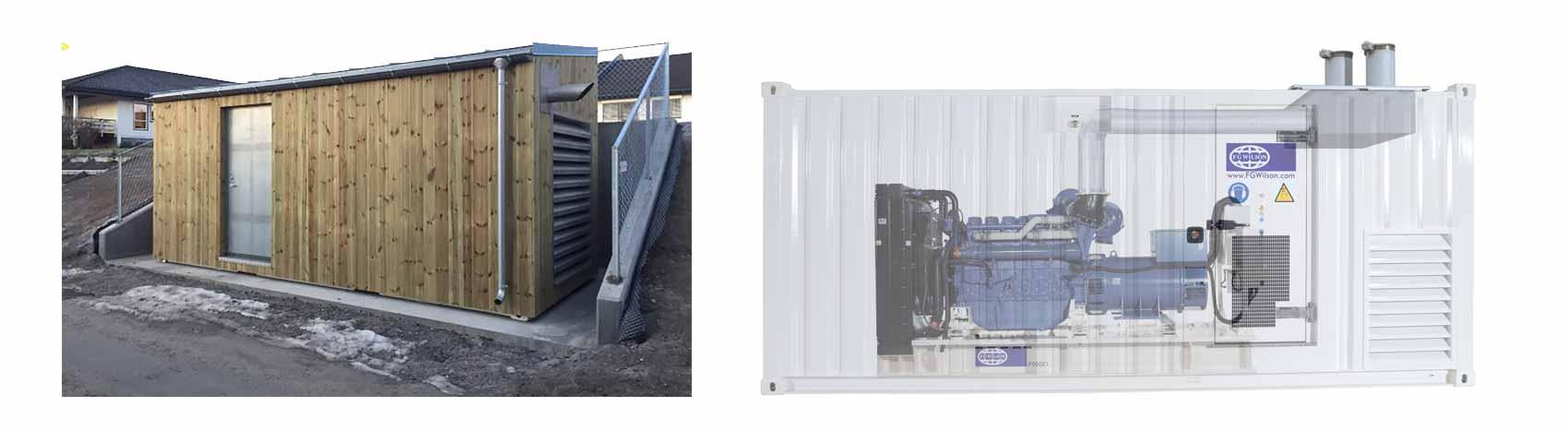 Coromatic generator i container